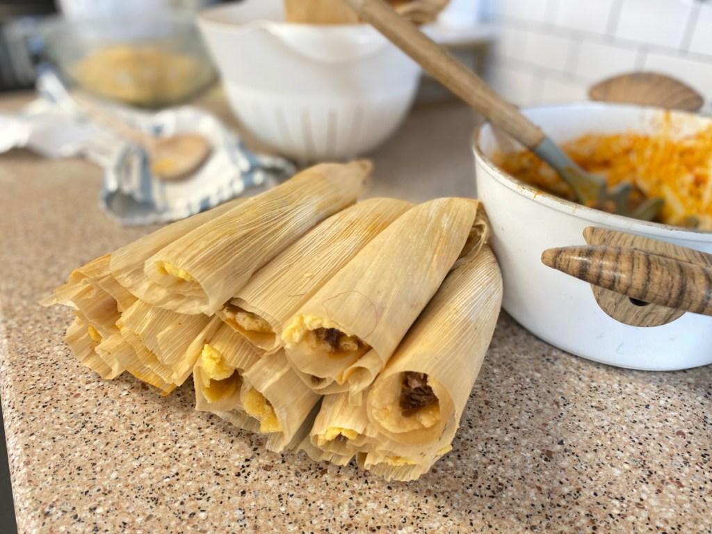 keto tamales on counter