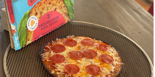 These Store-Bought Cauliflower Pizza Crusts are Super Low-Carb & So Yum!