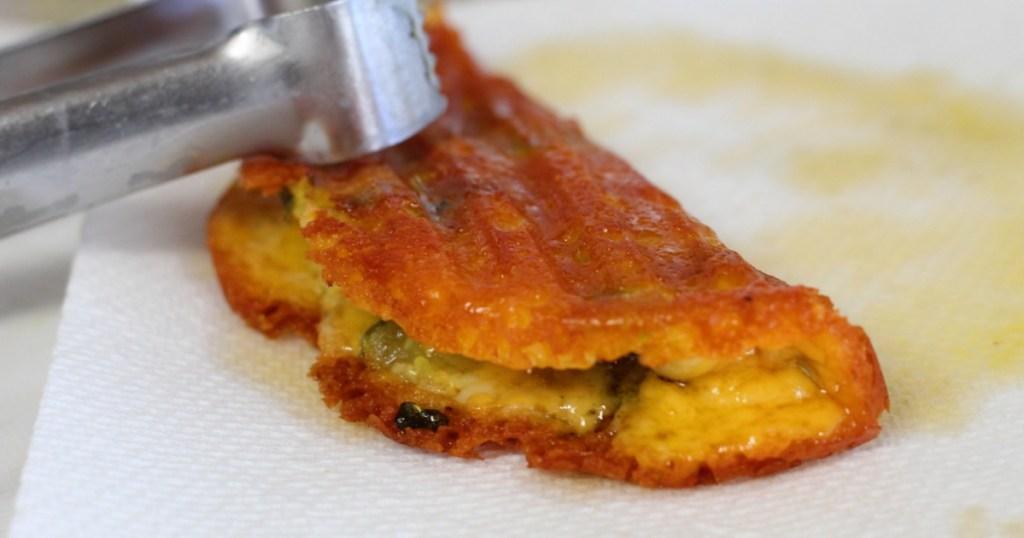 making keto cheese waffle