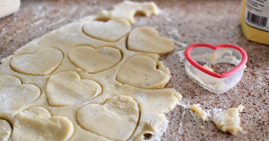 cutting out keto sugar cookies