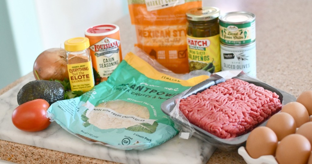 ingredients for keto taco pie