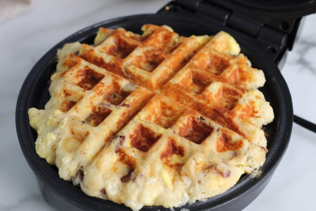 waffle maker with a waffle inside