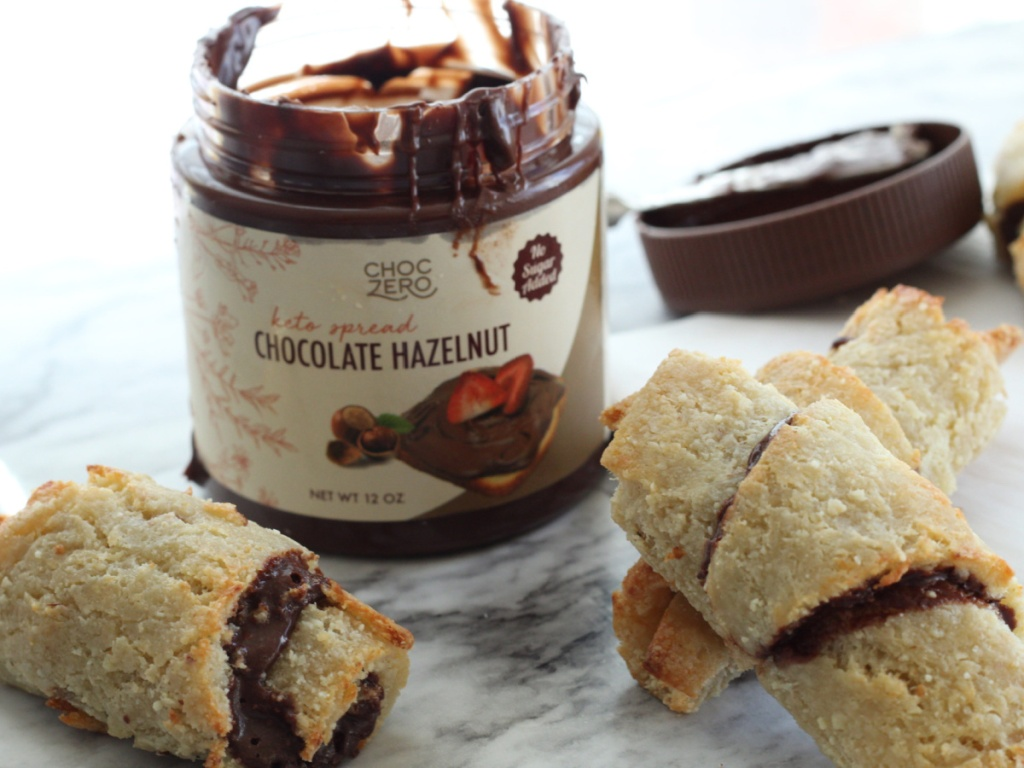 crescent rolls with ChocZero chocolate spread