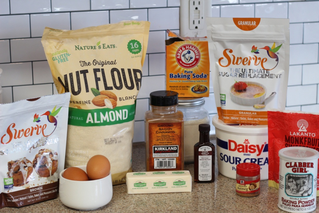 ingredients for keto coffee cake