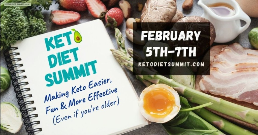 Keto Diet Summit notebook and keto foods