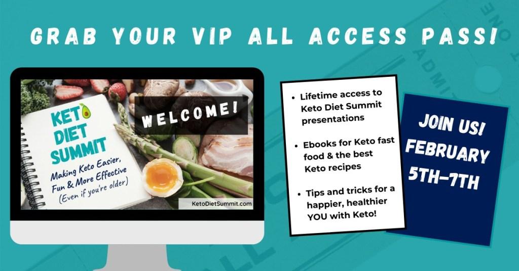 Keto Summit VIP package details