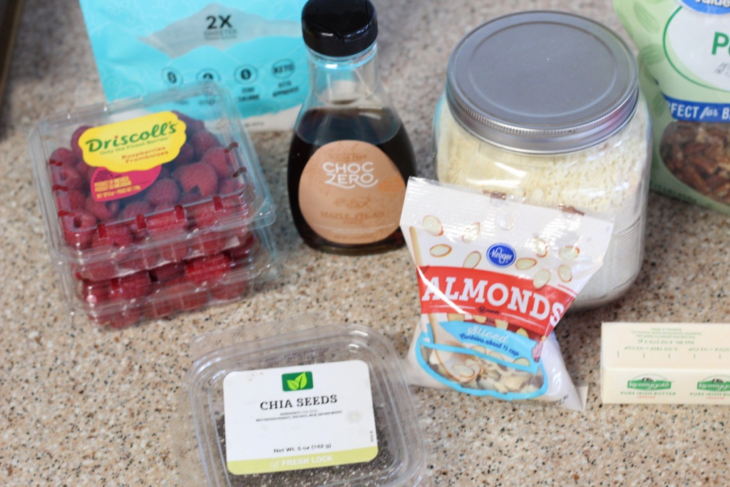 ingredients for keto raspberry bars