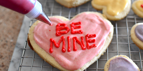 Bake Conversation Heart Keto Sugar Cookies
