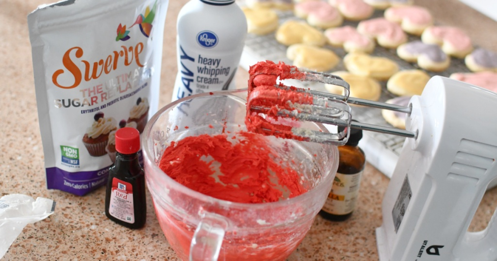 red keto buttercream frosting