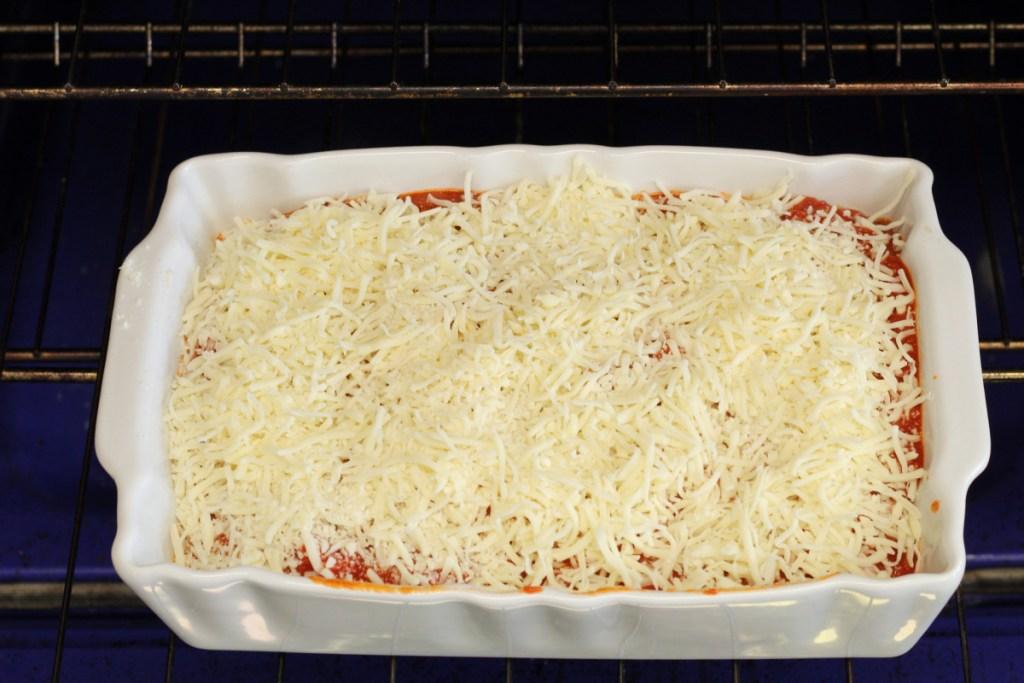 keto lasagna stuffed chicken in the oven