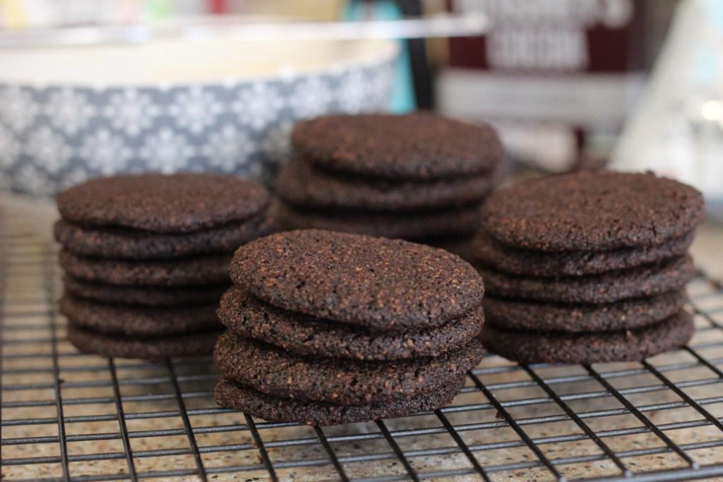 Keto chocolate wafer cookies