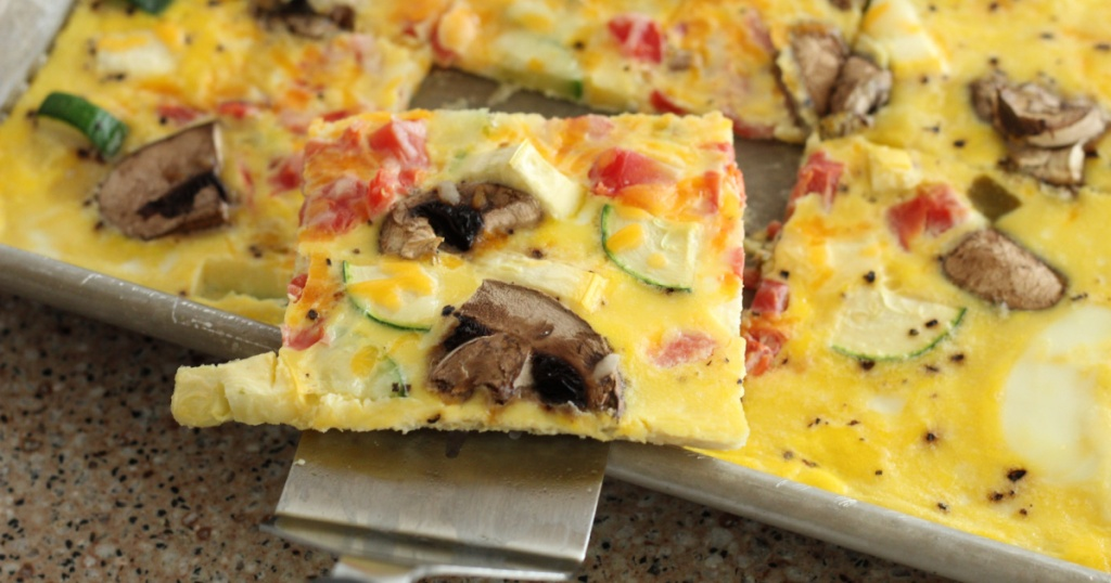Keto omelet sheet pan