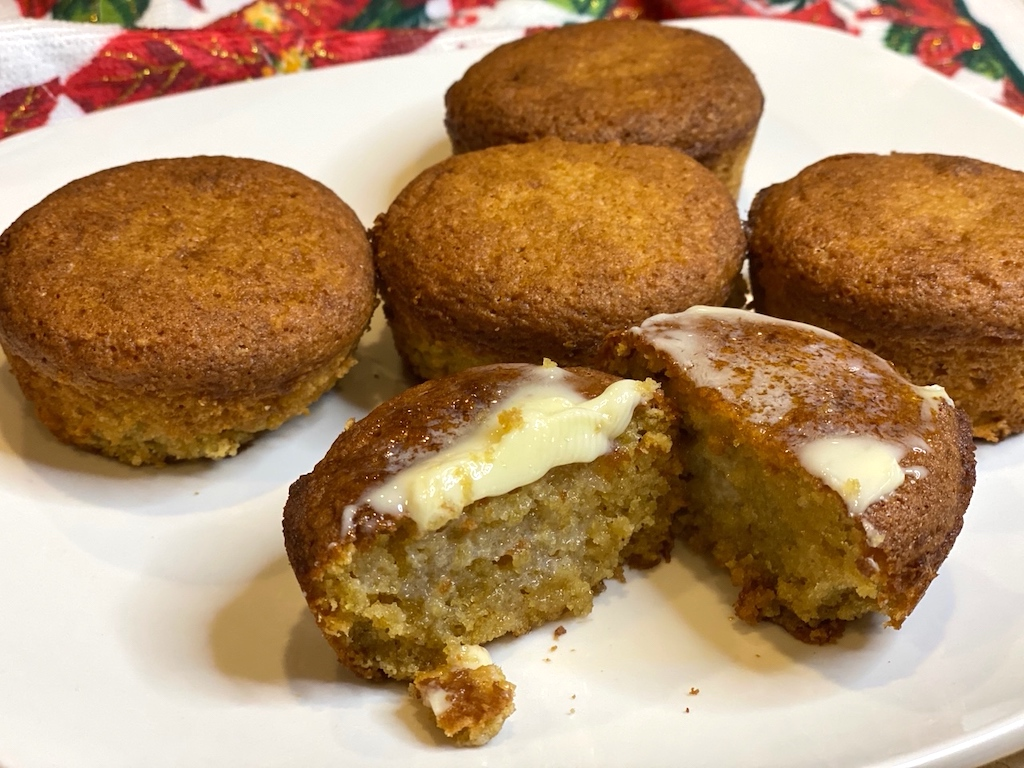 keto banana caramel muffins with butter