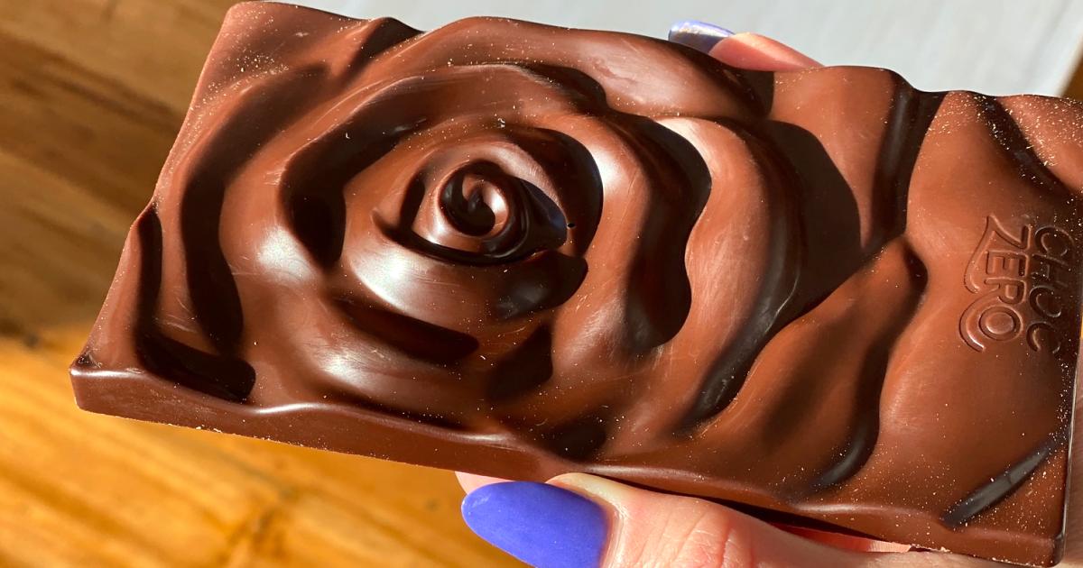 ChocZero rose chocolate bar