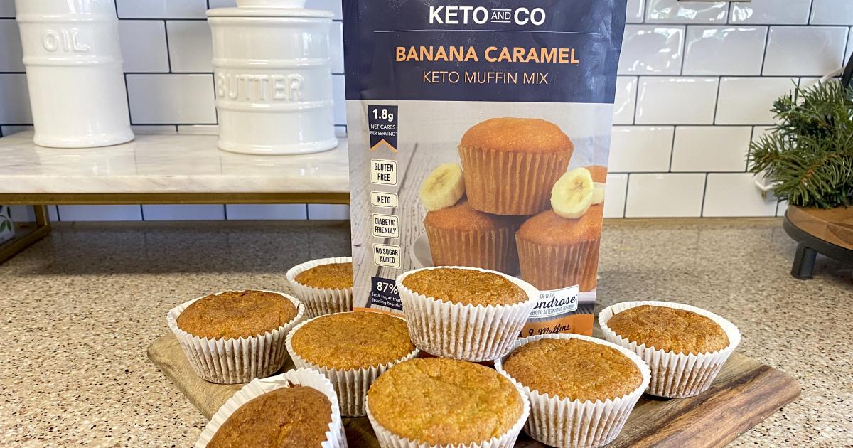 Keto and Co banana caramel keto muffin mix