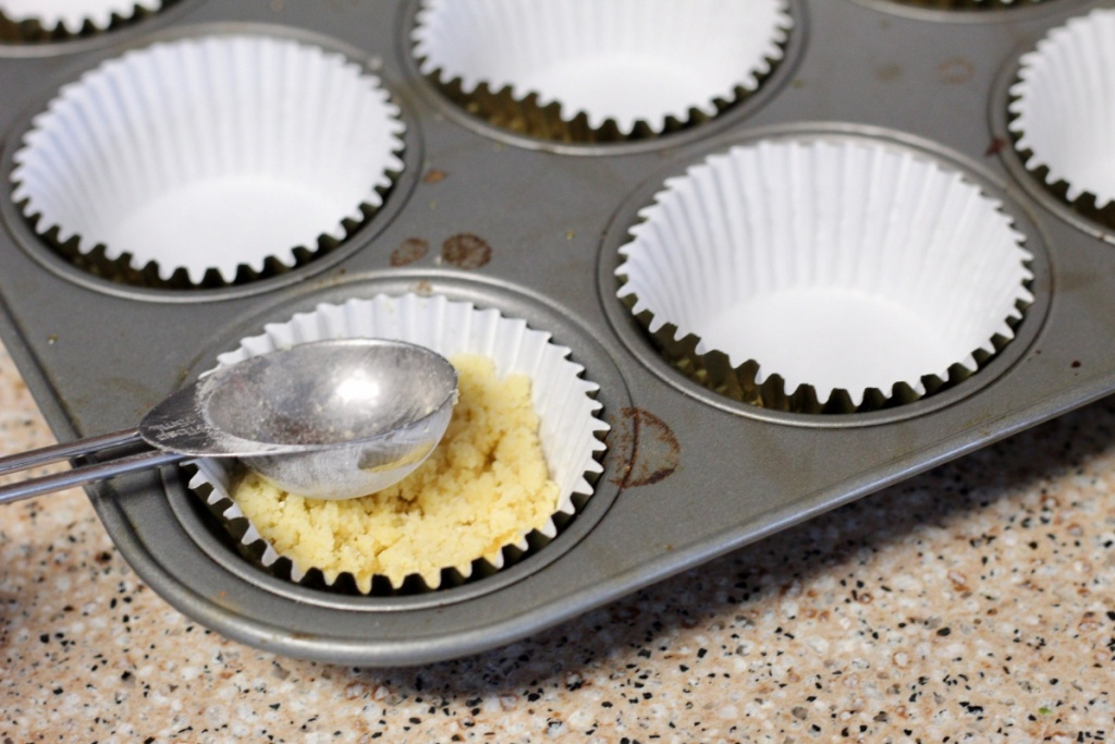 adding crust to a cupcake liner