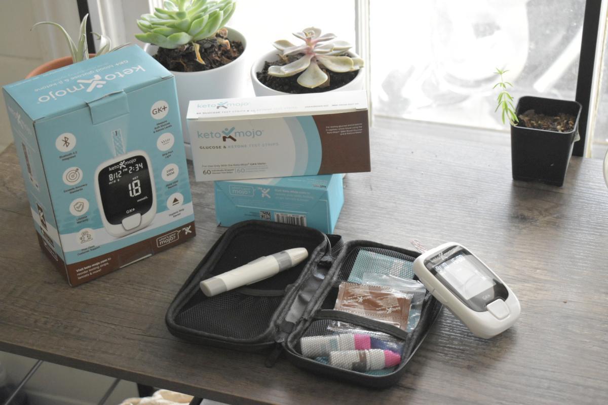 Keto Mojo full kit on counter