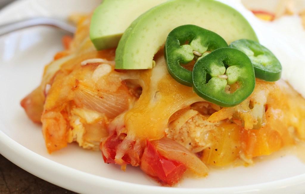 plate of keto chicken casserole