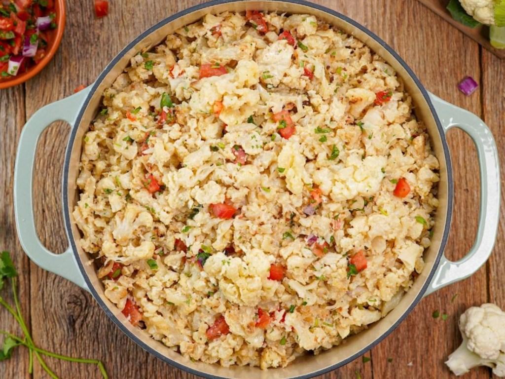 cauliflower mash in a bowl