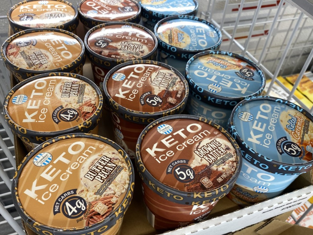 keto ice cream in freezer case