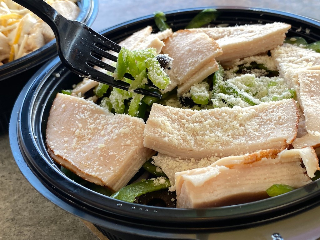 Subway protein bowl with turkey