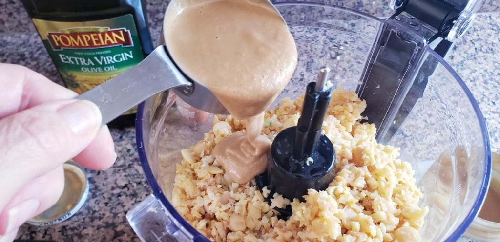 Adding tahini