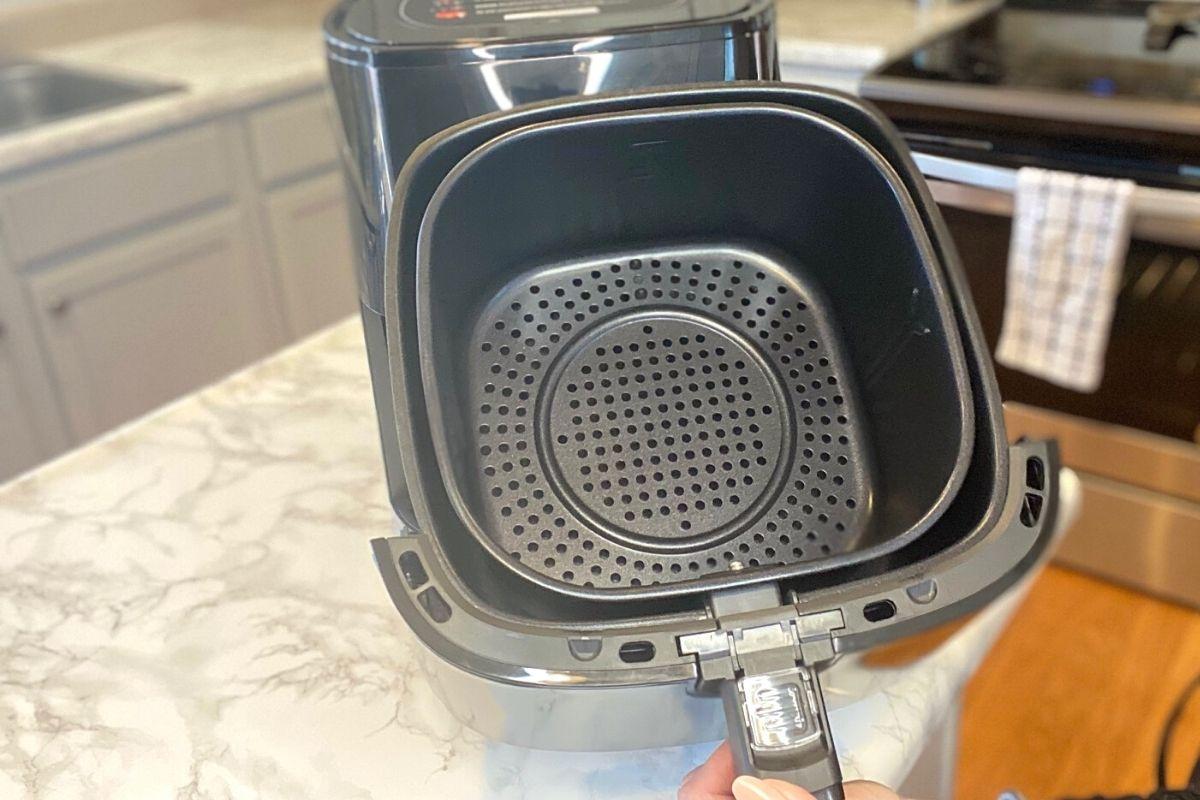 An air fryer basket