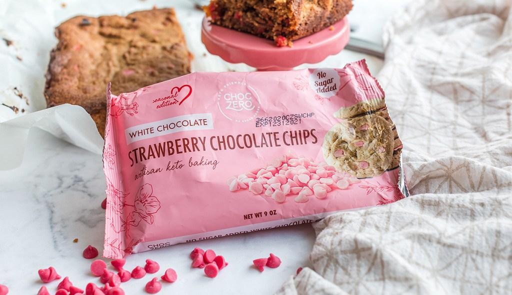 ChocZero Strawberry chocolate chips