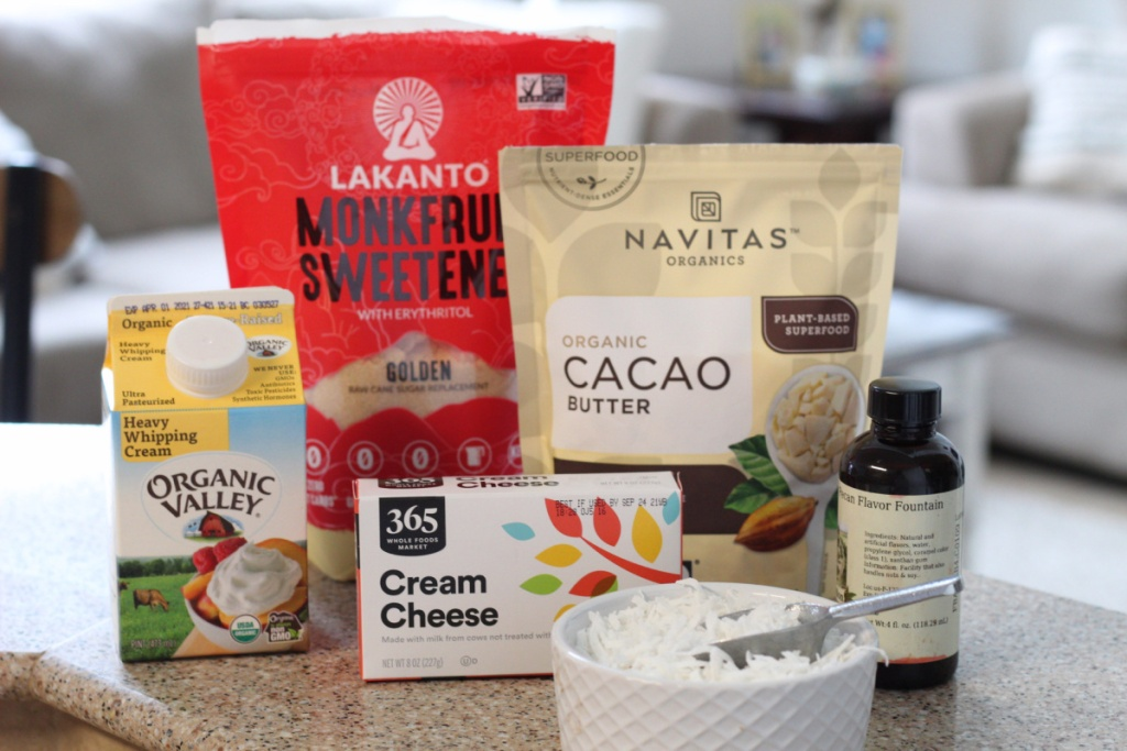 ingredients for keto coconut truffles