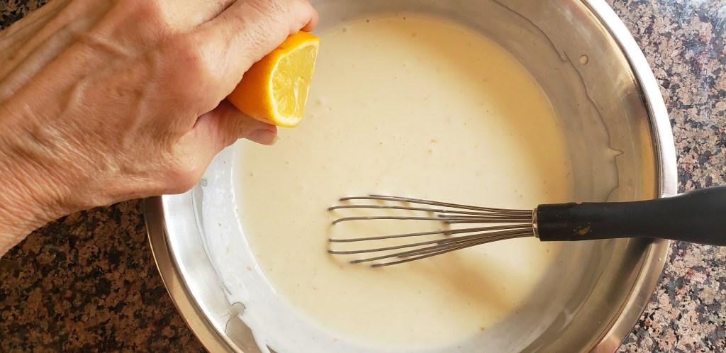 keto orange creamsicle cheesecake batter