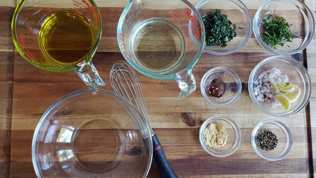 pickle juice salad dressing ingredients ready to blend