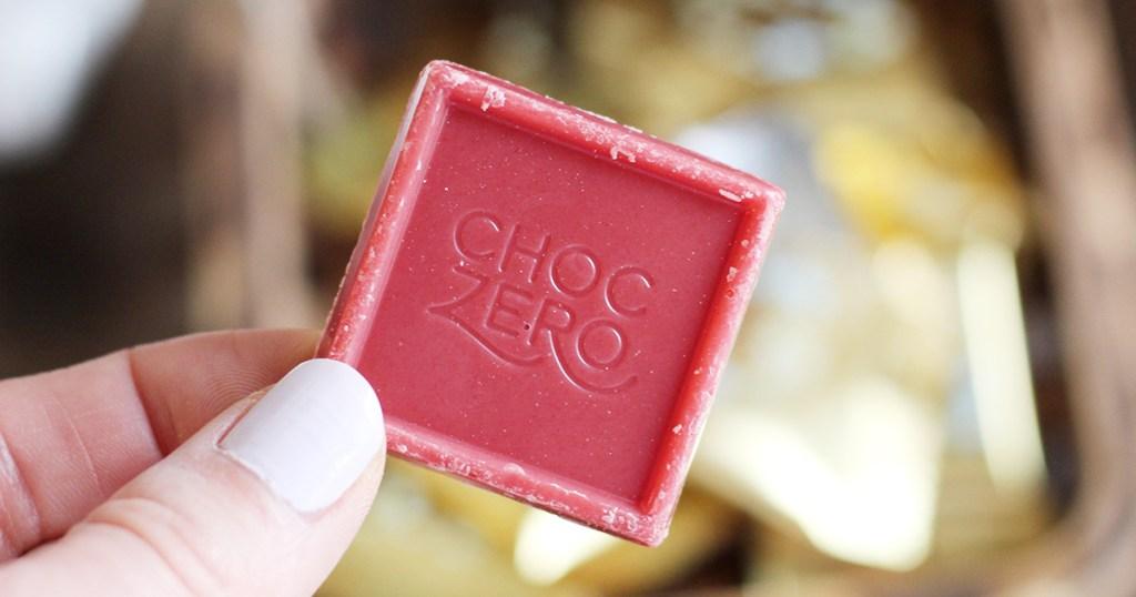 choczero strawberry chocolate square