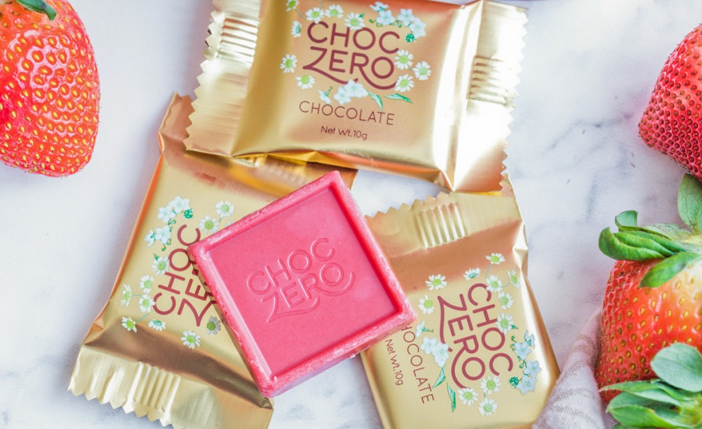 choczero strawberry chocolate squares