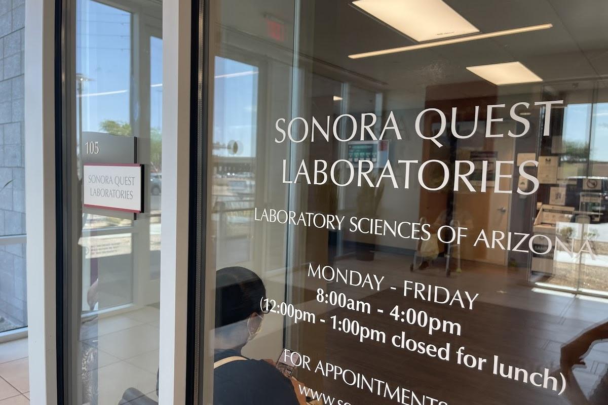 door of laboratory offices