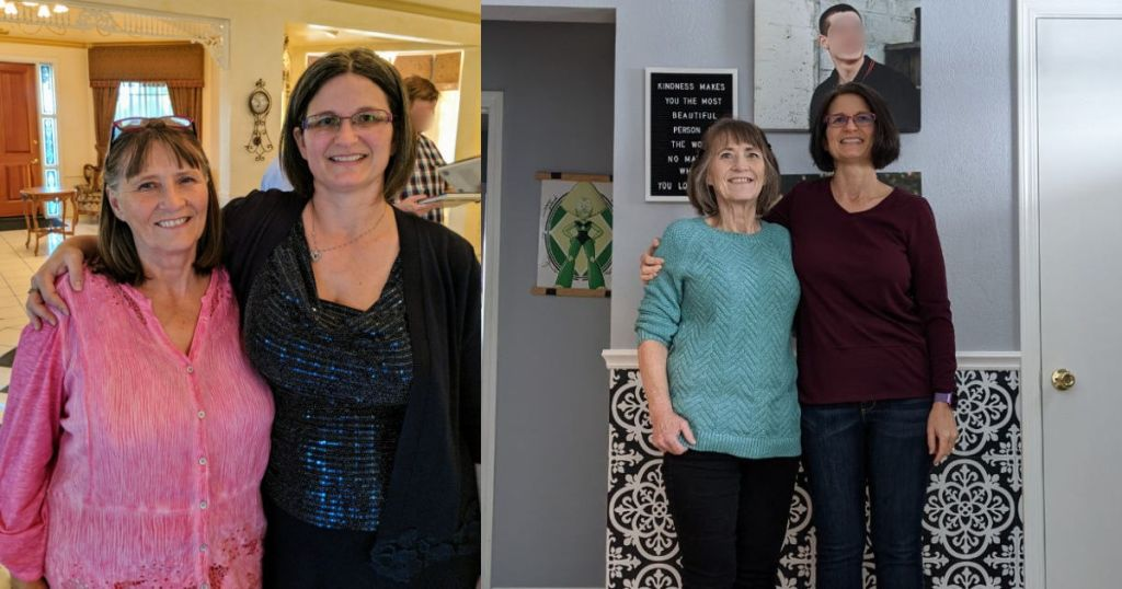 mother and daughter before and after keto weight loss