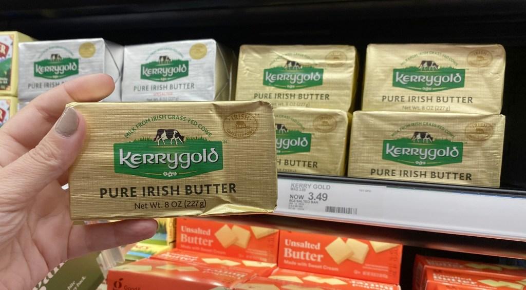 kerrygold butter in store shelf