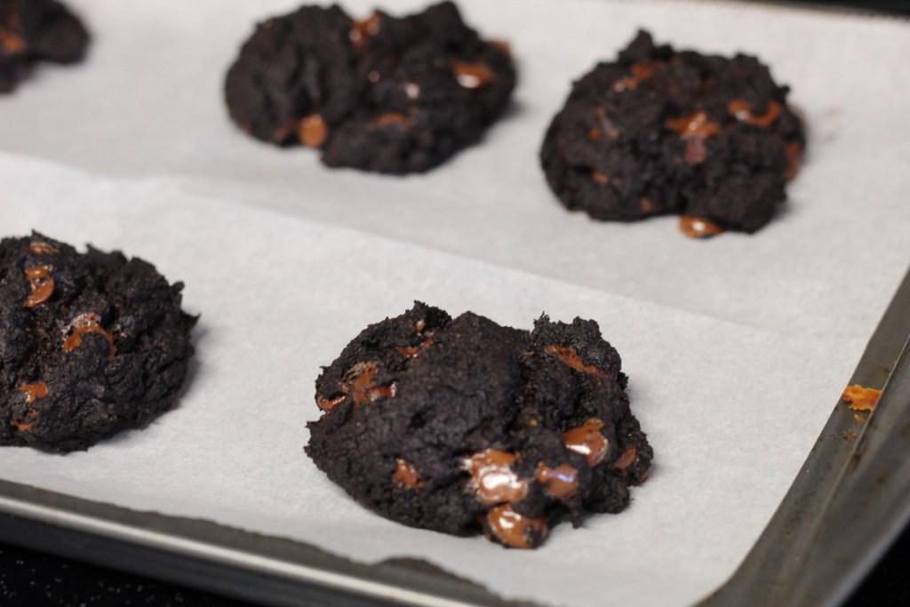 baked keto avocado chocolate cookies