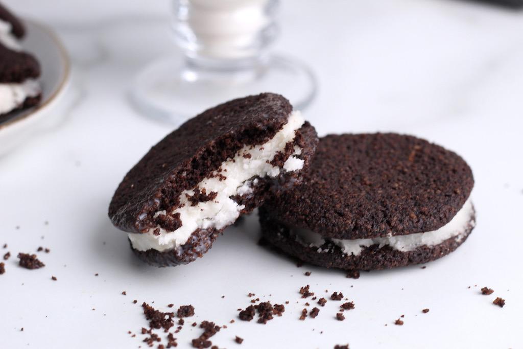 Keto oreo cookies on counter