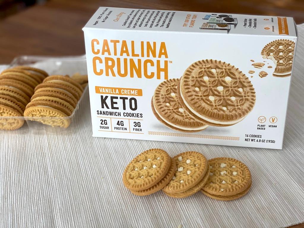 Catalina Crunch vanilla creme keto cookies
