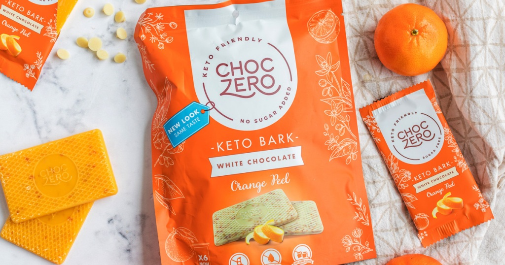 CHoc zero orange keto bark