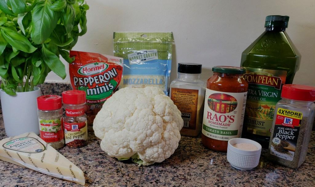 ingredients for keto cauliflower parm