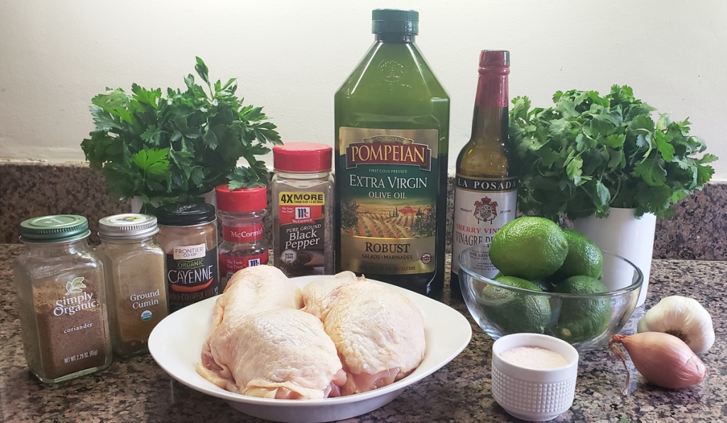 ingredients for recipe on table