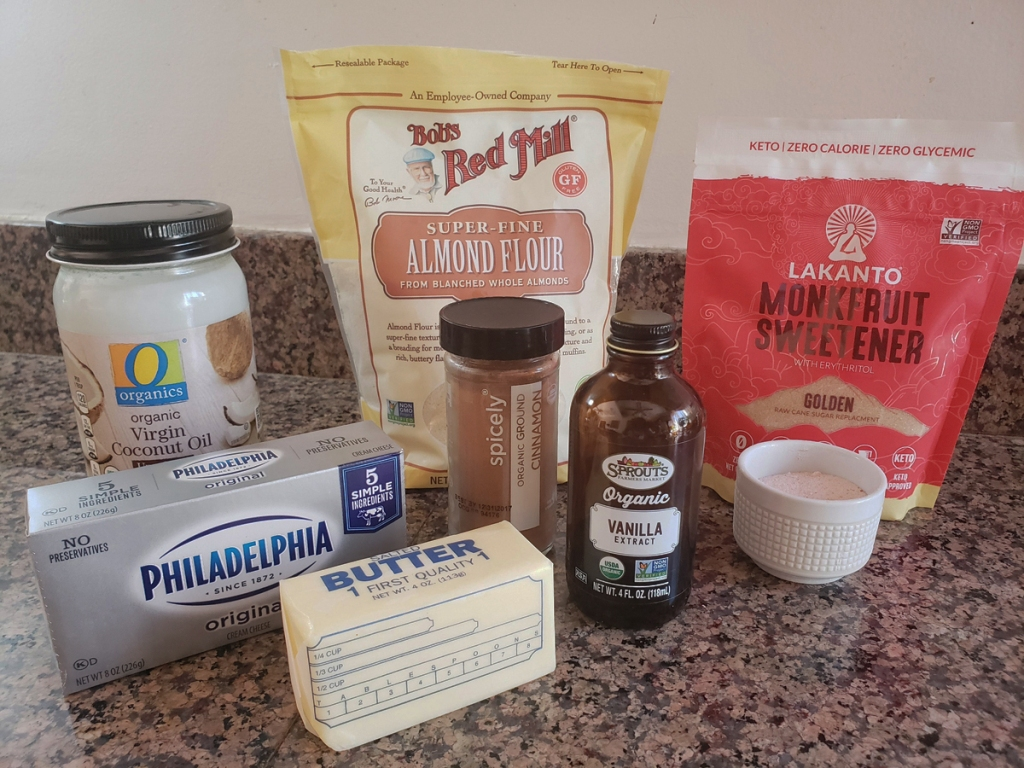 ingredients for keto cinnamon roll fat bombs