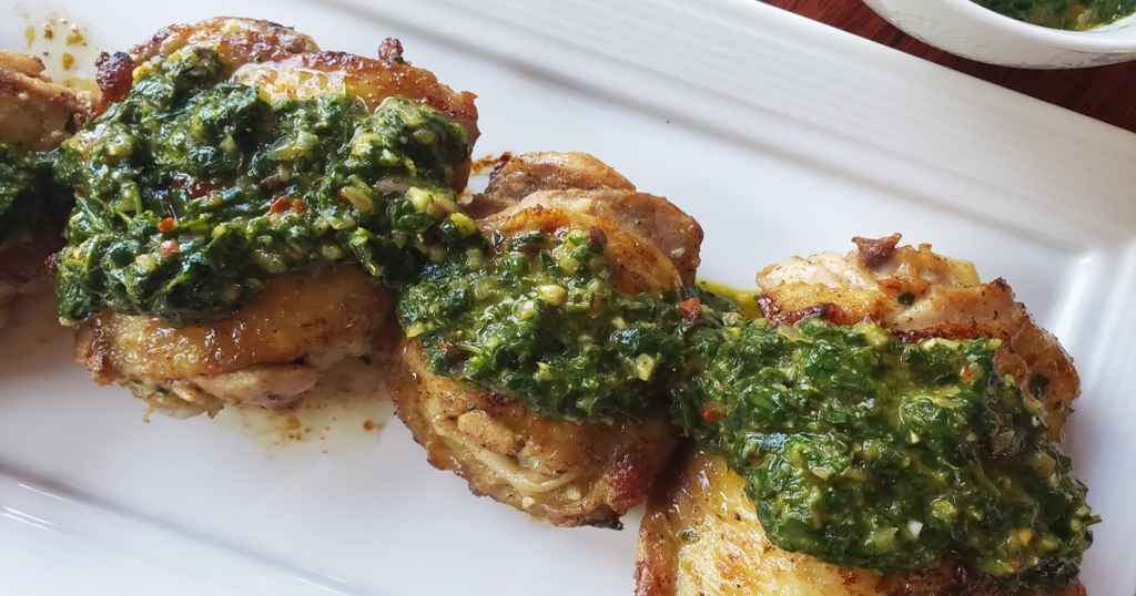 Chicken Thighs with Chimichurri