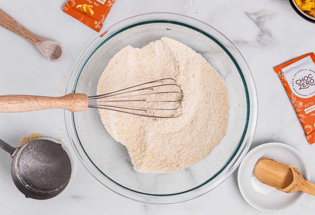 adding almond flour