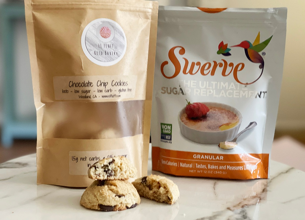 el fluff cookies and bag of swerve