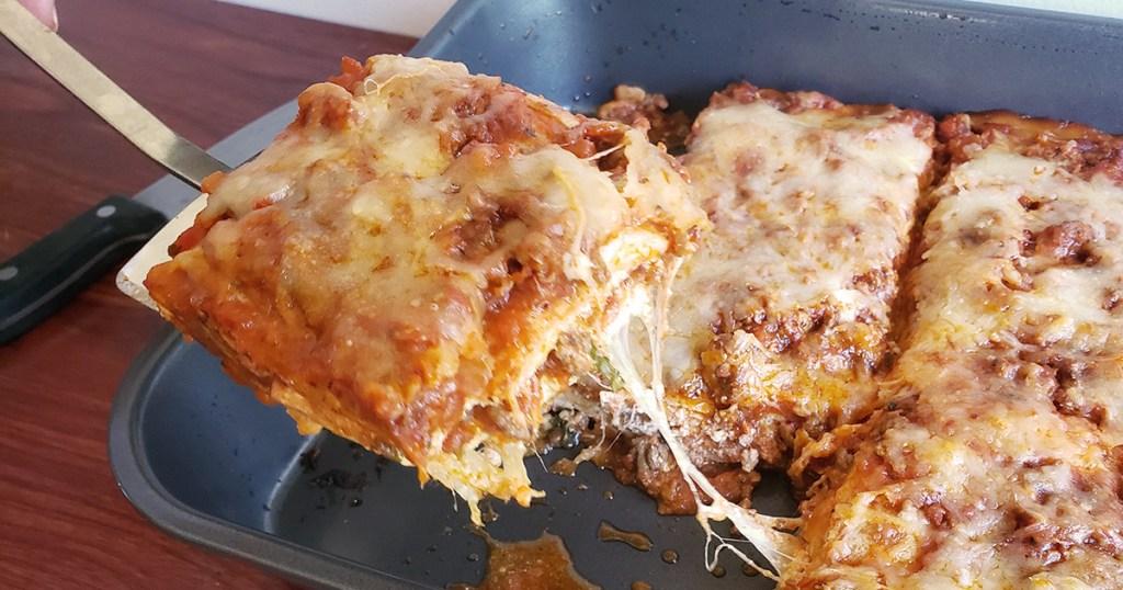 keto lasagna from pan