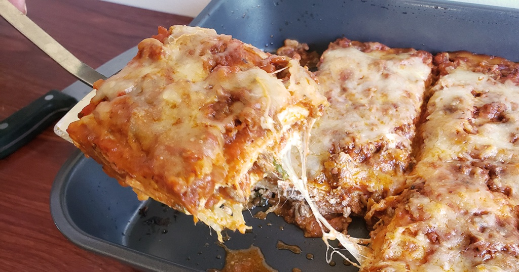 keto lasagna from pan