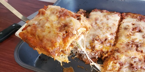 Introducing the Best Low-Carb Lasagna Made with Egg Wraps