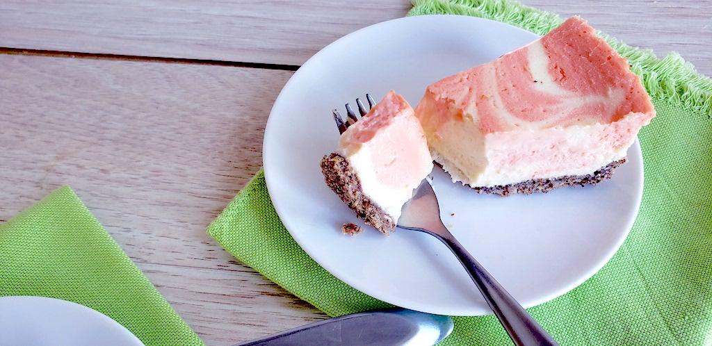 keto orange creamsicle slice on plate